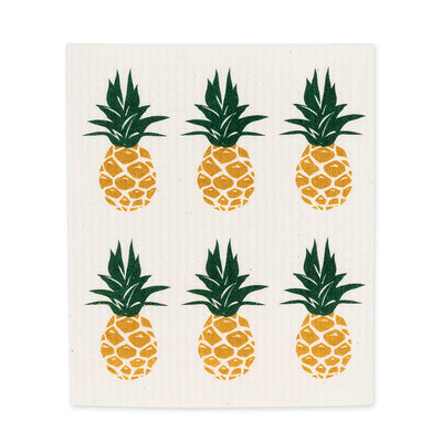 Pineapple Swedish Dish Cloths - Set of 2