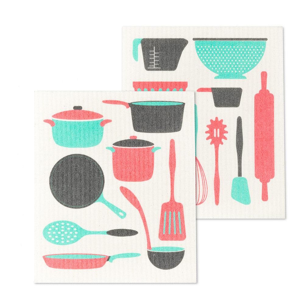 Kitchen Utensils Swedish Dish Cloths-Set of 2 | Putti Fine Furnishings