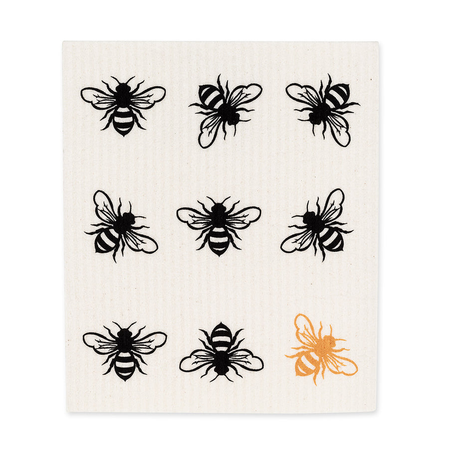 Bee Swedish Dish Cloths - Set of 2