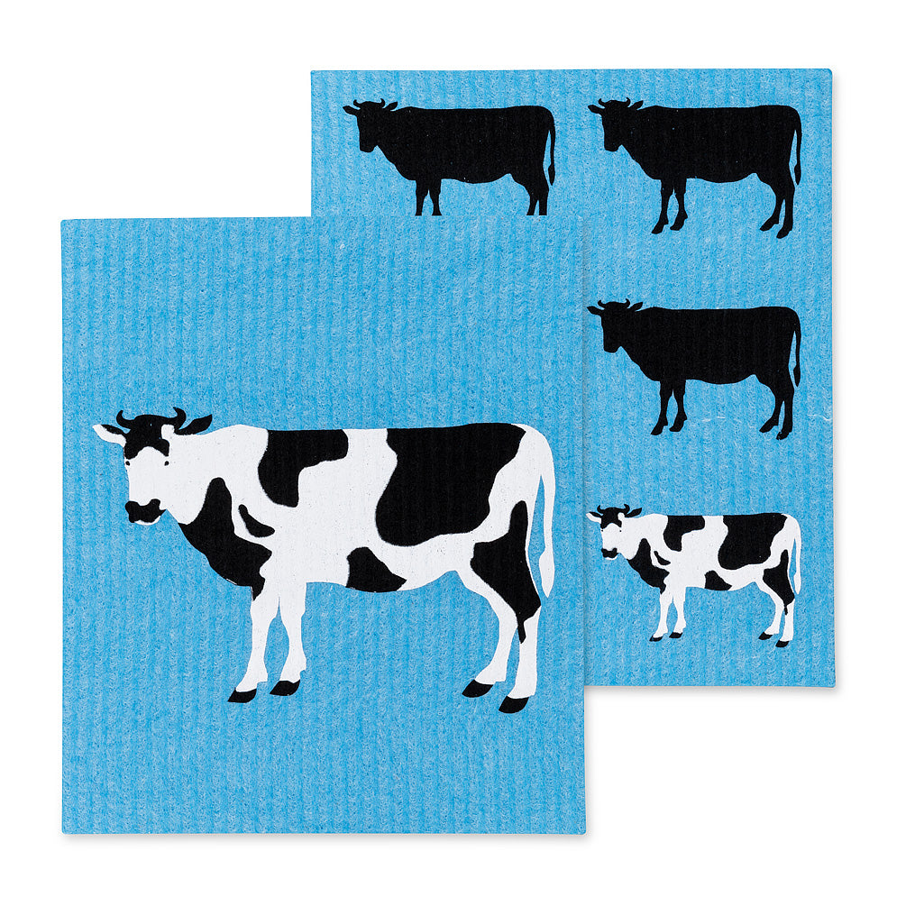 Cow Swedish Dish Cloths - Set of 2 | Putti Fine Furnishings