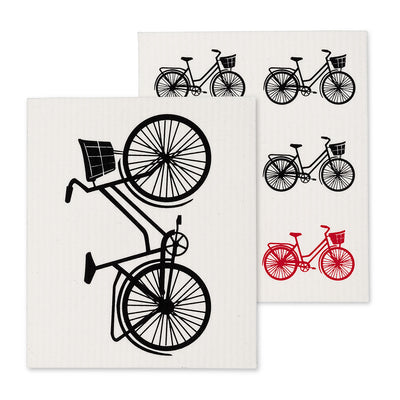 Bicycle Swedish Dish Cloth - set of 2 | Putti Fine Furnishings Canada
