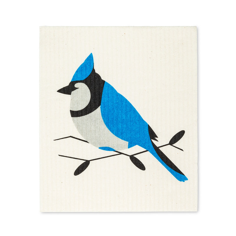 Blue Jay Swedish Dish Cloth - set of 2