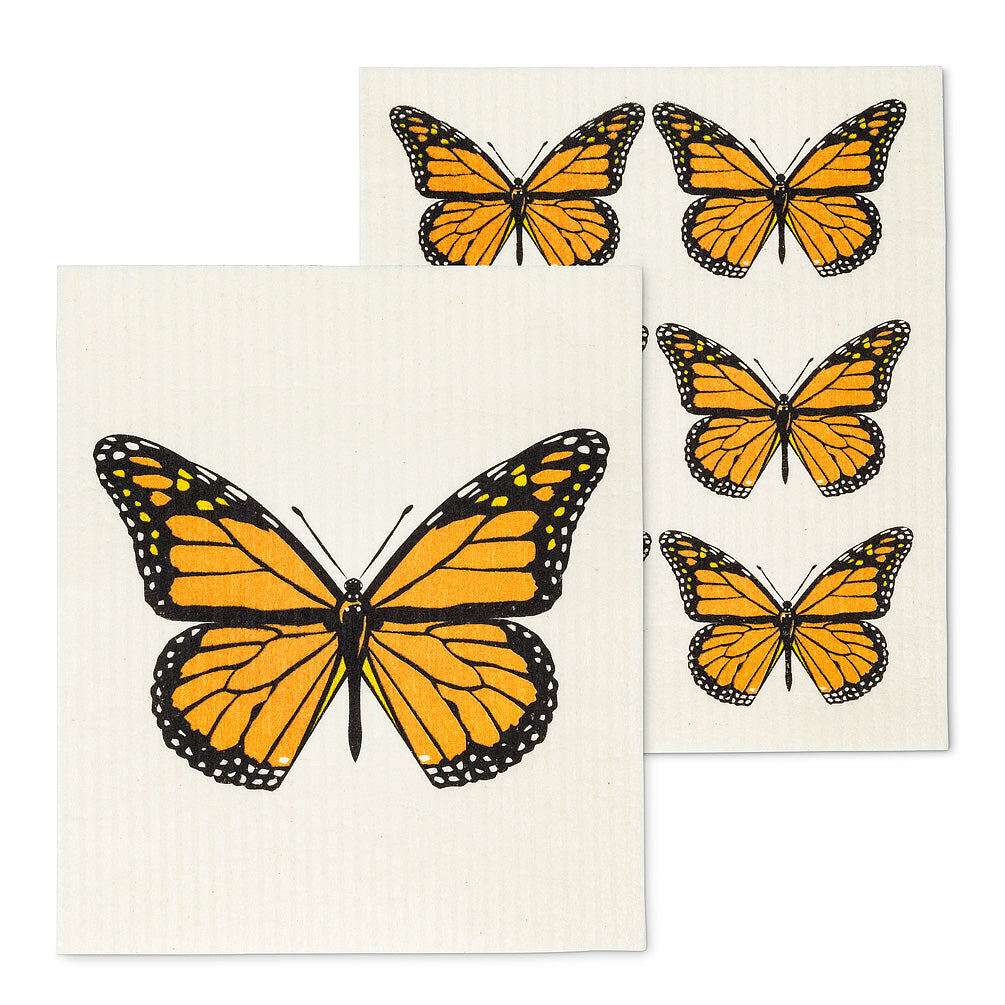 Monarch Butterfly Swedish Dish Cloths - Set of 2 | Putti Fine Furnishings
