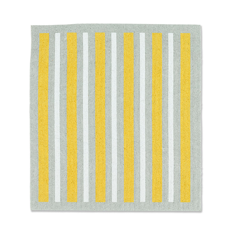 Daisy & Stripe Swedish Dish Cloths - Set of 2 |  Putti Fine Furnishings