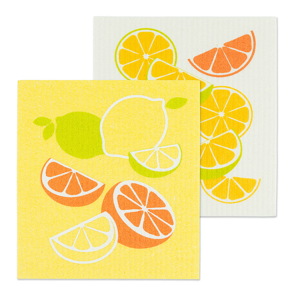 Citrus Swedish Dish Cloths-Set of 2 | Putti Fine Furnishings