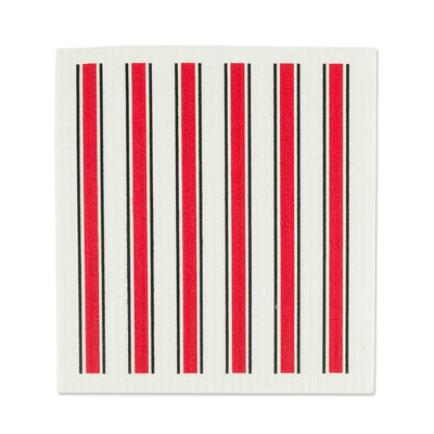 Rooster & Red Stripe Swedish Dish Cloths - Set of 2