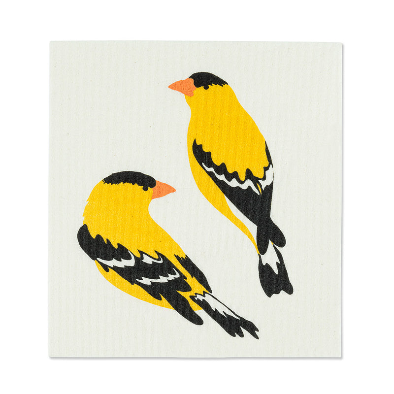 Yellow Finch Swedish Dish Cloths - Set of 2