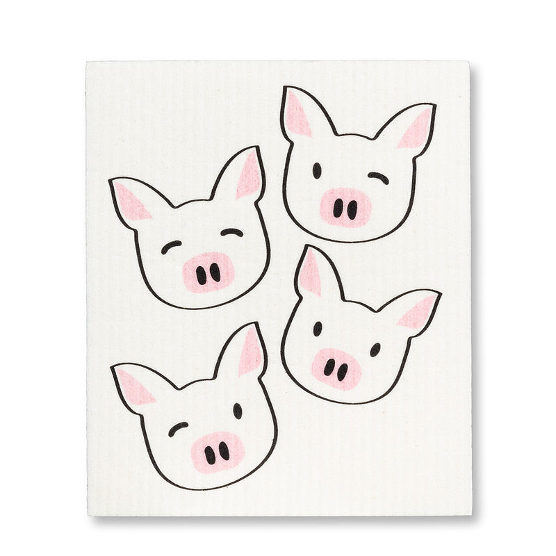 Pig with Glasses Swedish Dish Cloths-Set of 2 | Putti Fine Furnishings