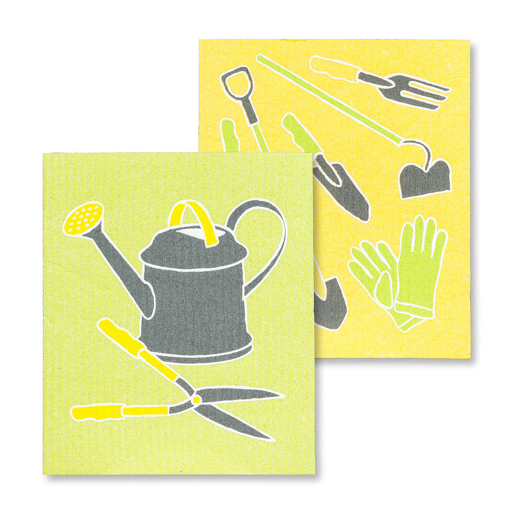 Garden Tools Swedish Dish Cloths-Set of 2 | Putti Fine Furnishings