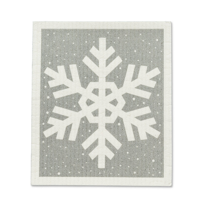 Snowflake Swedish Dish Cloths - Set of 2 | Putti Christmas Canada