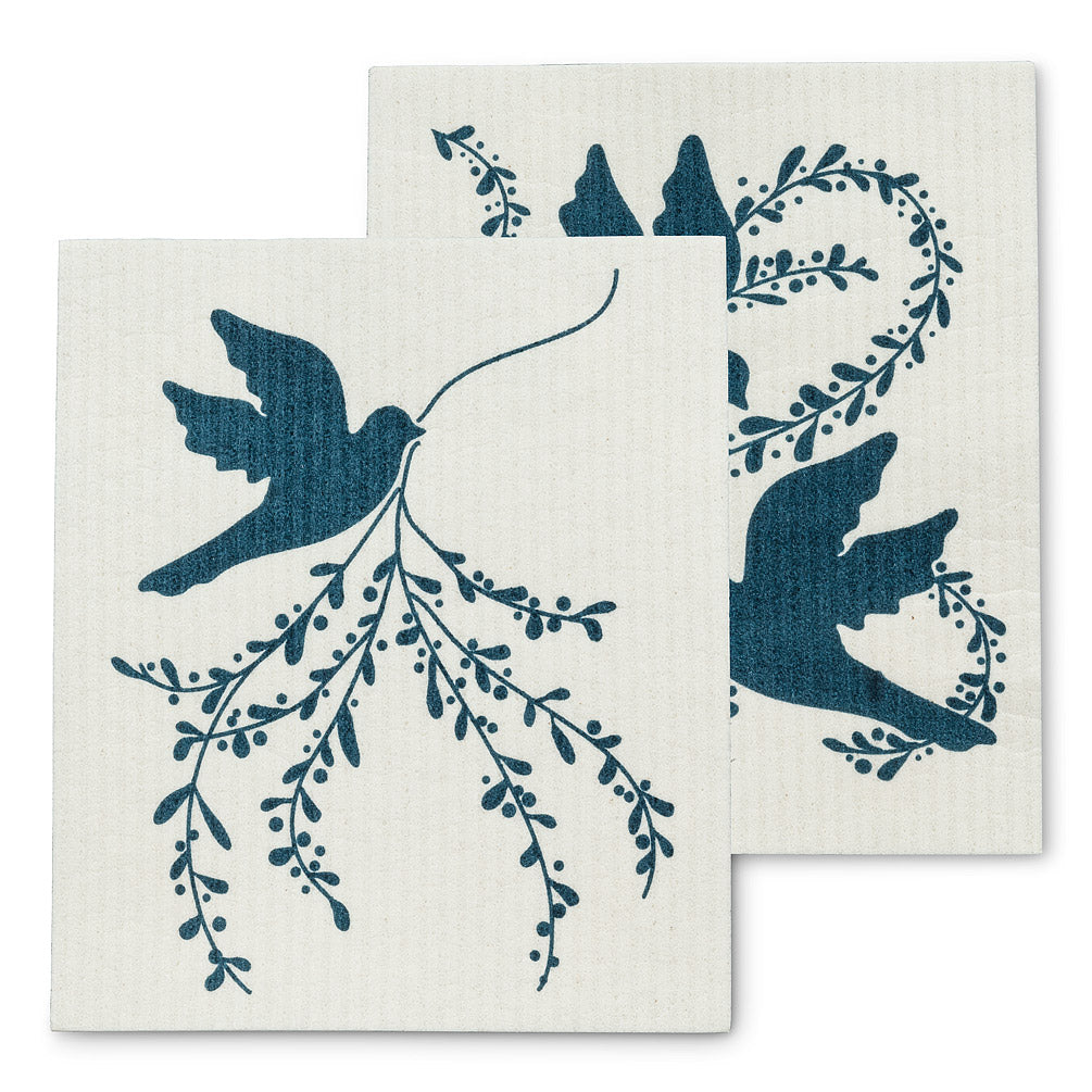 Peace Dove Swedish Dish Cloths-Set of 2 |  Putti Christmas Canada