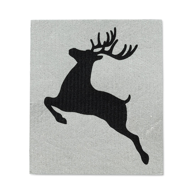 Noel Reindeer Swedish Dish Cloths-Set of 2  |  Putti Christmas Canada