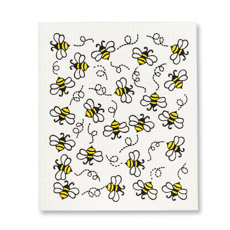 Allover Bees Swedish Dish Cloths-Set of 2  | Putti Fine Furnishings