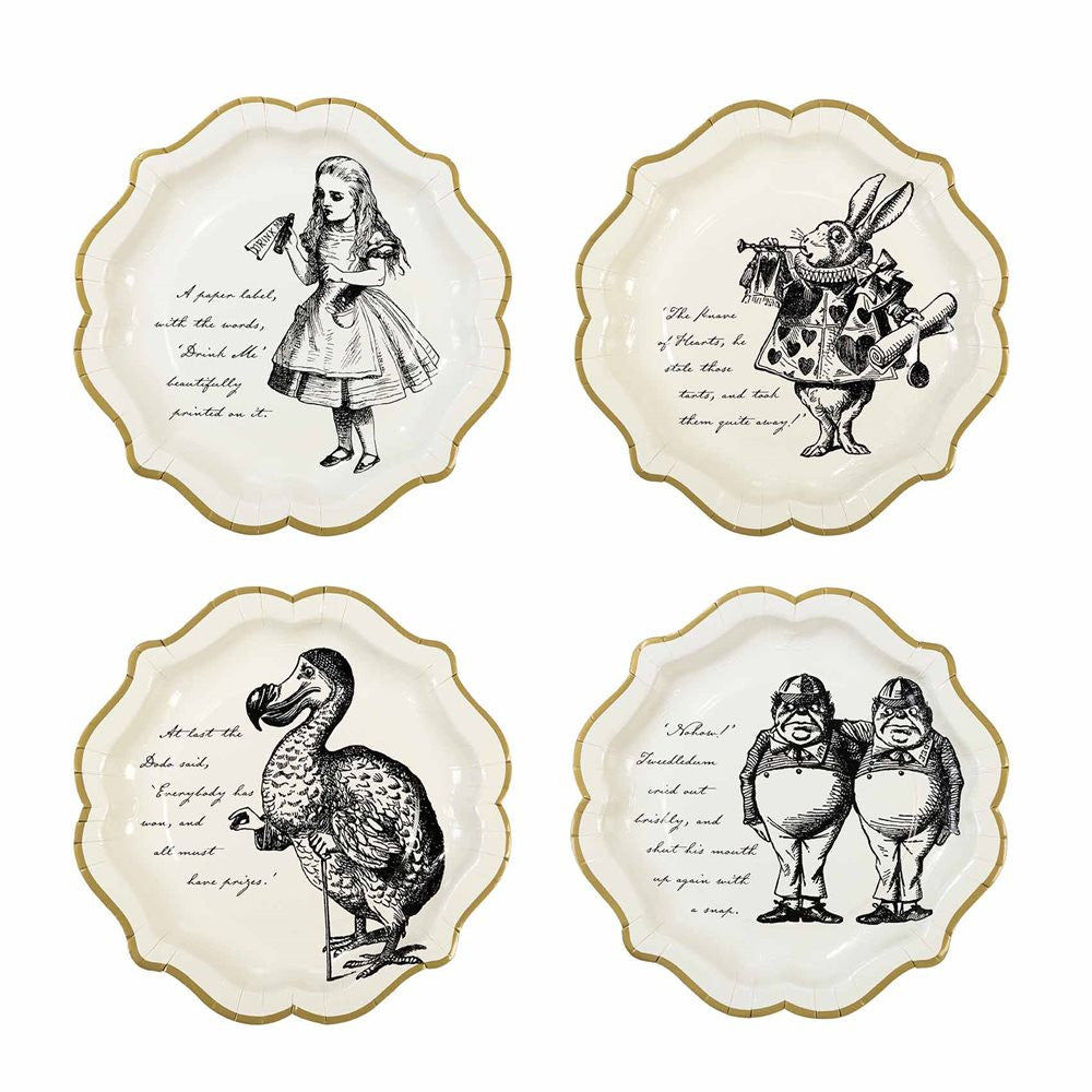Truly Alice Paper Plates - Medium -  Party Supplies - Talking Tables - Putti Fine Furnishings Toronto Canada - 1