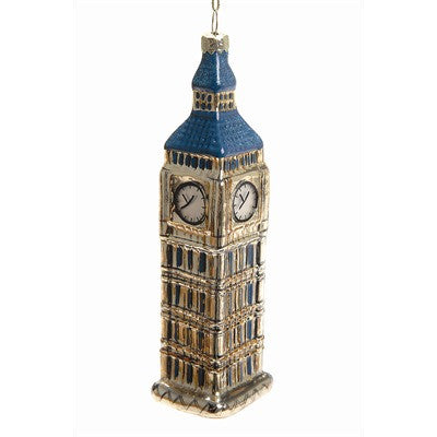 Big Ben Glass Ornament -  Christmas - TPC-The Pine Center - Putti Fine Furnishings Toronto Canada