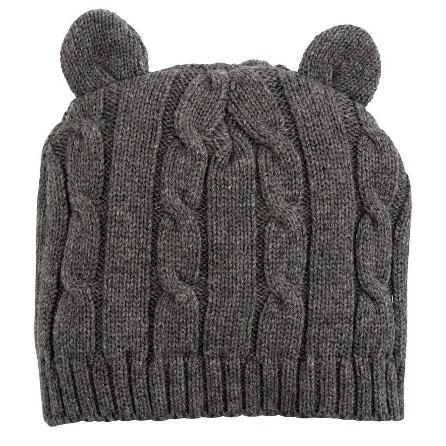 Elegant Baby Classic Cable Knit Hat with Ears - Charcoal, EB-Elegant Baby, Putti Fine Furnishings
