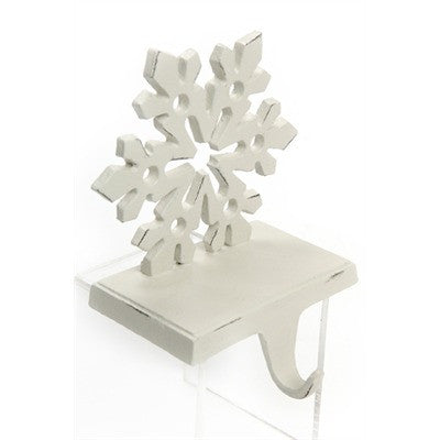 Snowflake Stocking Holder - White