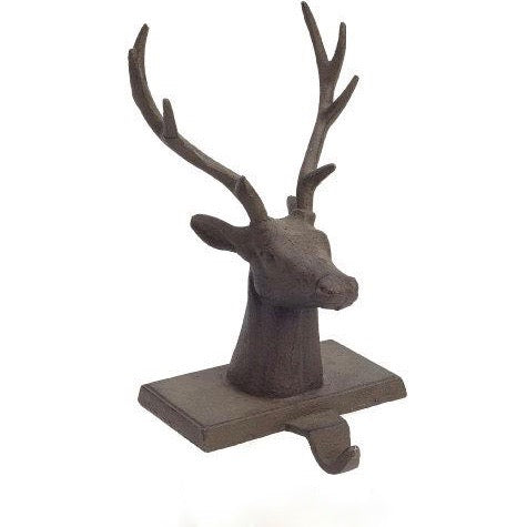Reindeer Stocking Holder - Brown