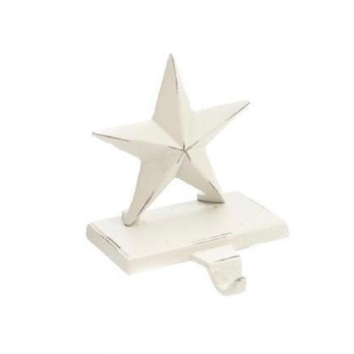 Star Stocking Holder - White