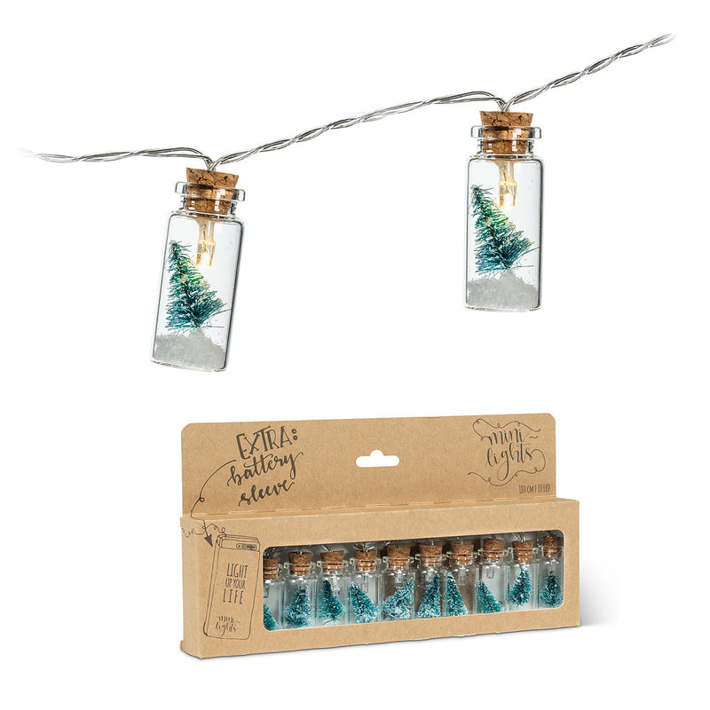 Tree in Bottle Minilights - Green | Putti Christmas Celebrations