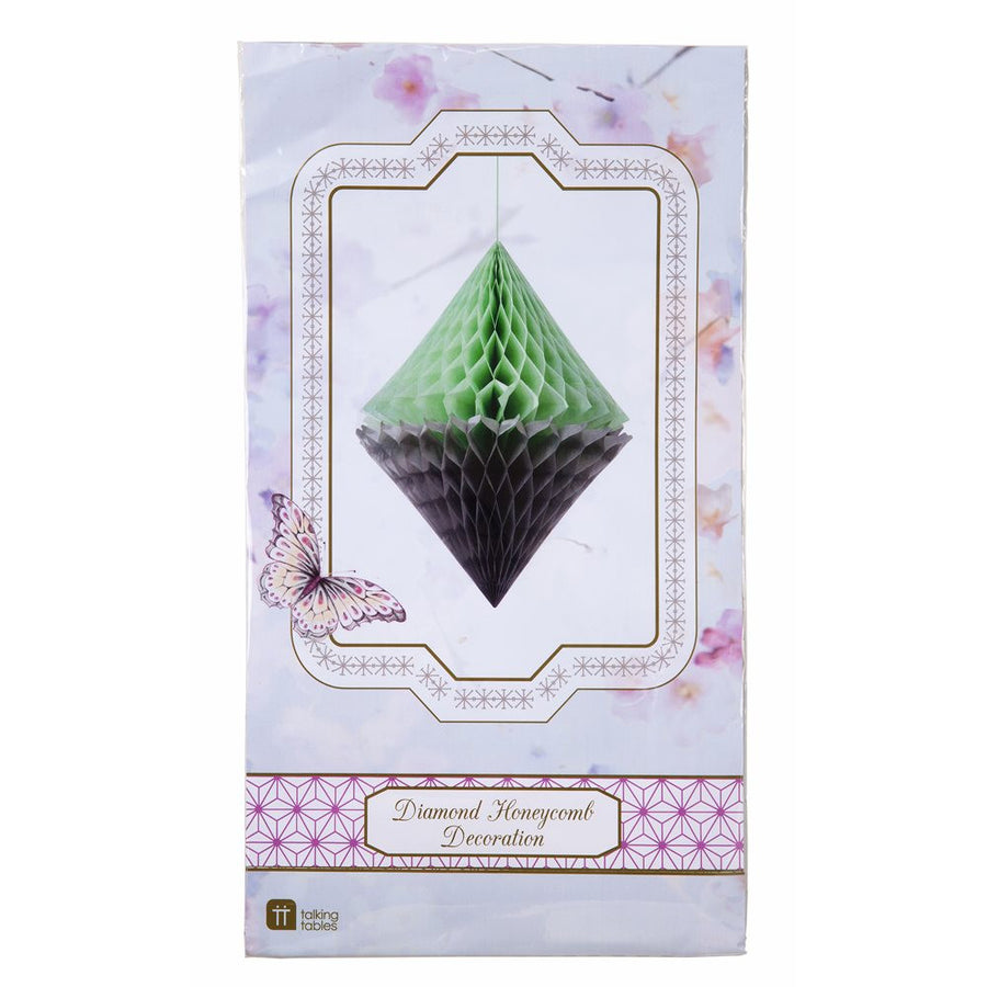 Decedant Decs Mint & Grey Honeycomb Diamond