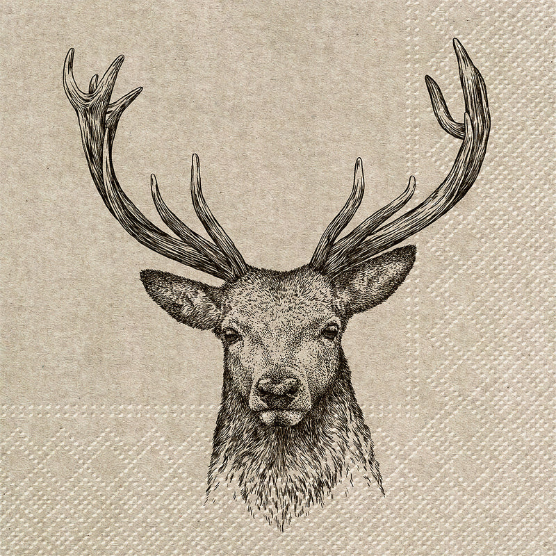 Deer Luncheon Napkins | Putti Christmas Celebrations