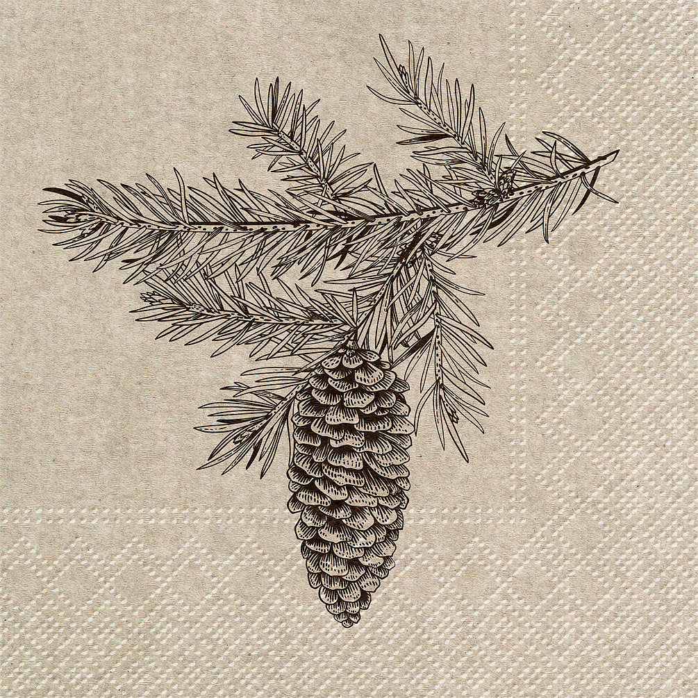 Pinecones Luncheon Napkins | Putti Christmas Celebrations