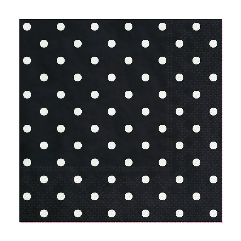 Black Mini Dots Cocktail Napkins | Putti Celebrations and Partyware
