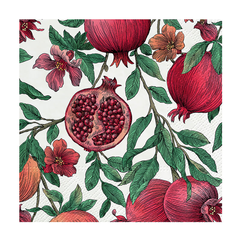 Pomegranate Paper Napkin - Cocktail | Putti Party Supplies