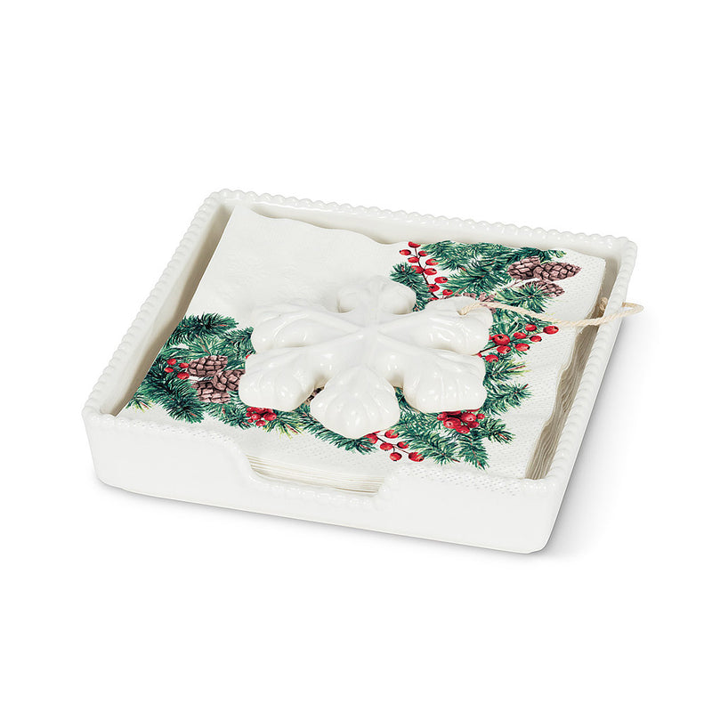 Winter Branches Paper Napkin - Lunch | Putti Christmas Party Supplies
