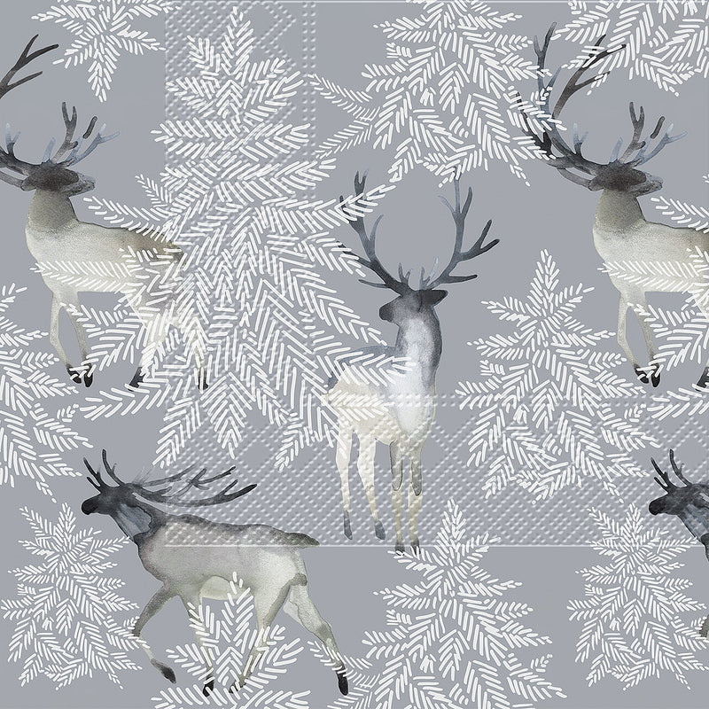 Elks Forest Paper Napkin - Lunch | Putti Christmas Party Supplies