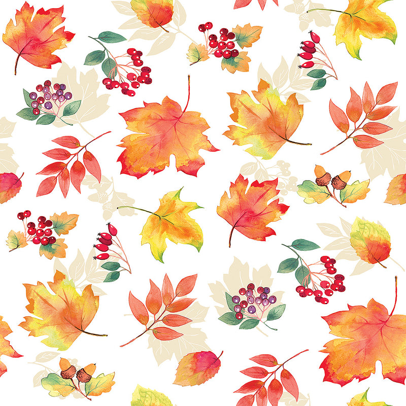 Falling Leaves Paper Napkin - Lunch