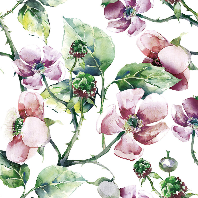 Wild Roses Paper Napkin - Lunch