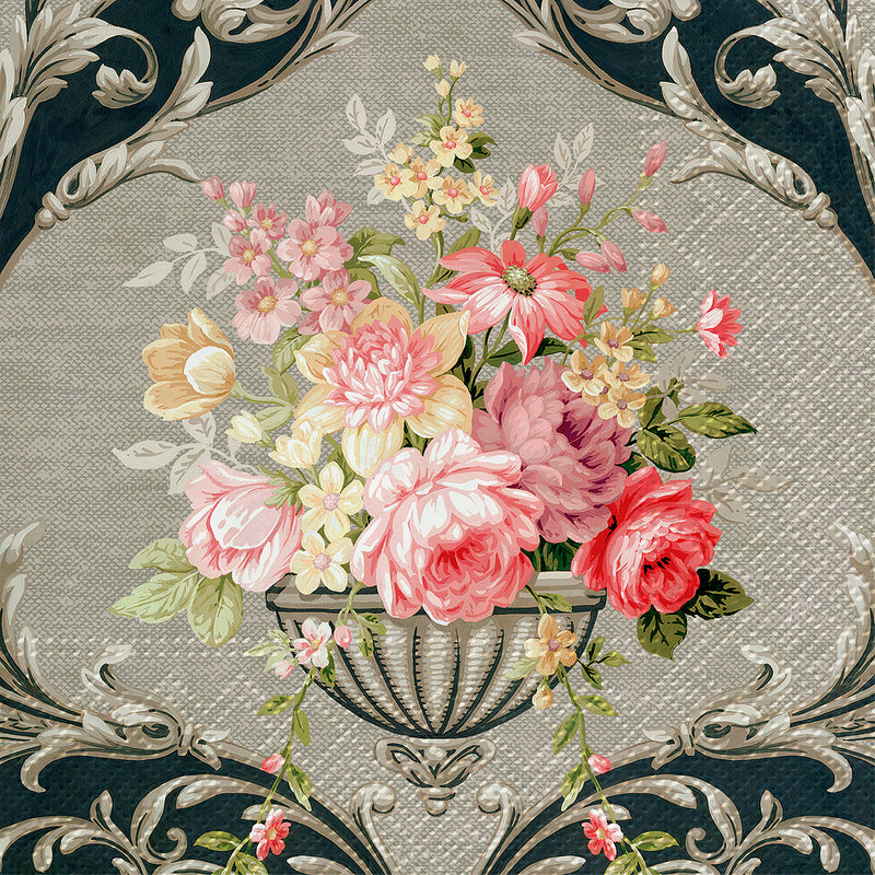 Royal Bouquet Paper Napkins - Lunch | Putti Party Supplies Canada