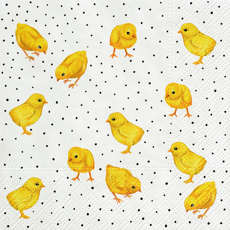 Clucking Chickens Paper Napkins - Lunch | Putti Easter Celebrations
