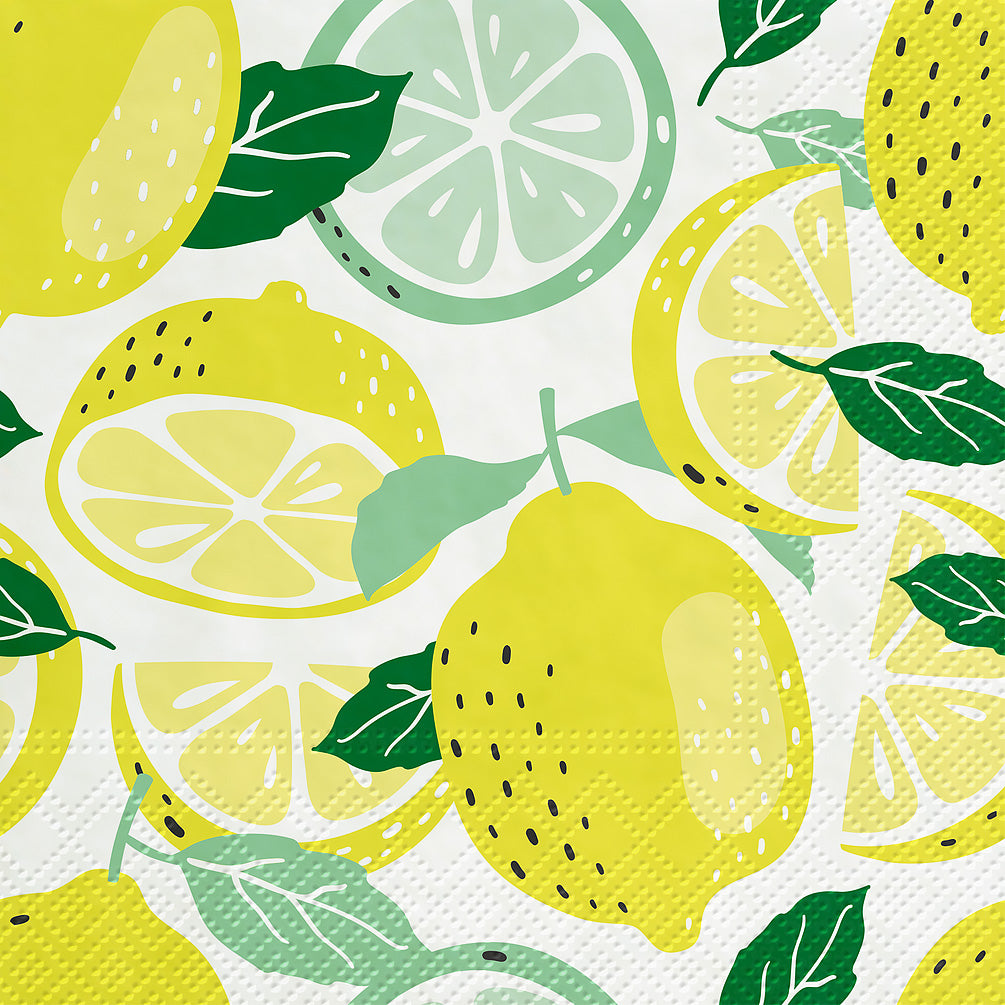 Tasty Lemons Paper Napkins - Lunch | Putti Party Supplies Toronto Canada