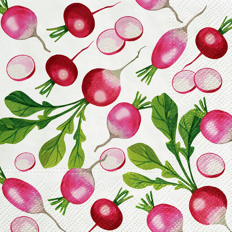 Fresh Radish Paper Luncheon Napkins | Putti Party Supplies