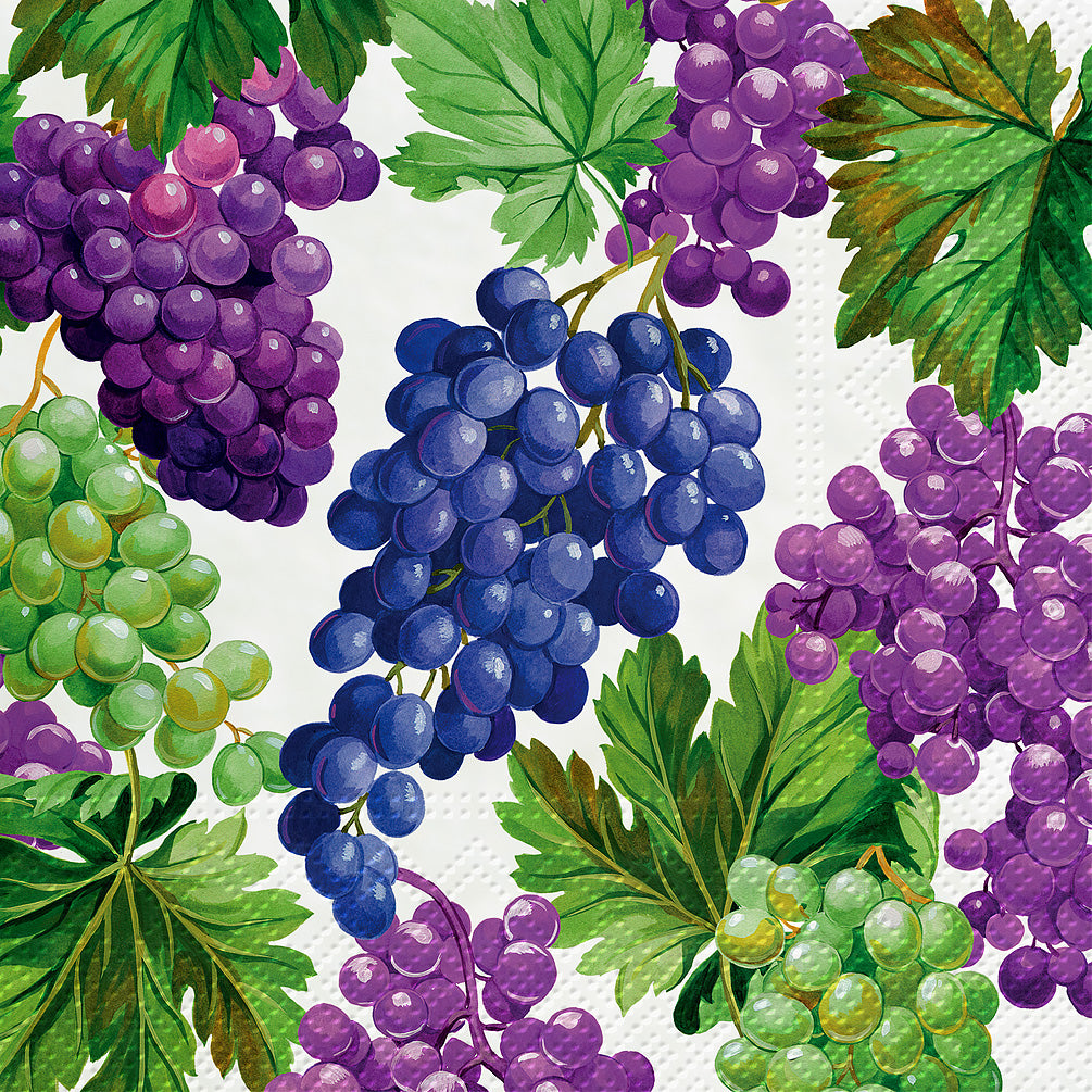 Natural Grapes Paper Napkins - Lunch