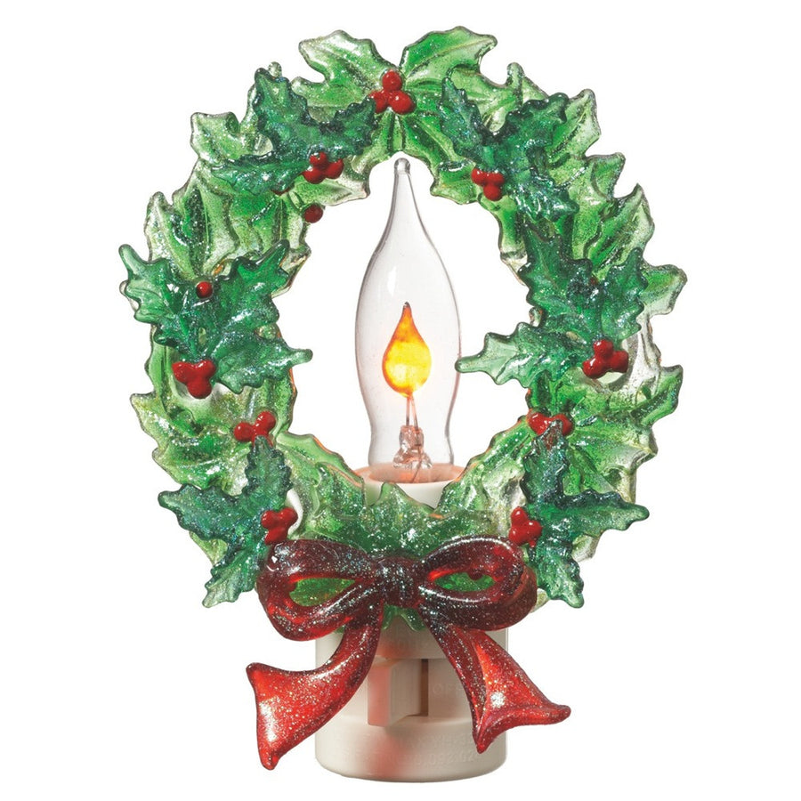Holly Wreath Flicker Night Light -  Accessories - Midwest - Putti Fine Furnishings Toronto Canada