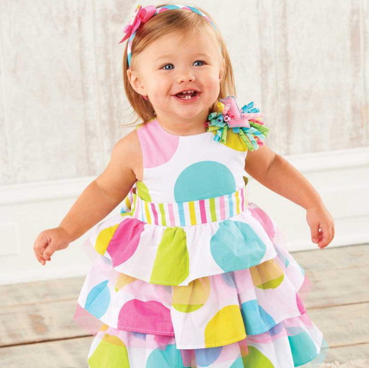 Polka Dot 1st Birthday Girl Dress, MP-Mud Pie, Putti Fine Furnishings