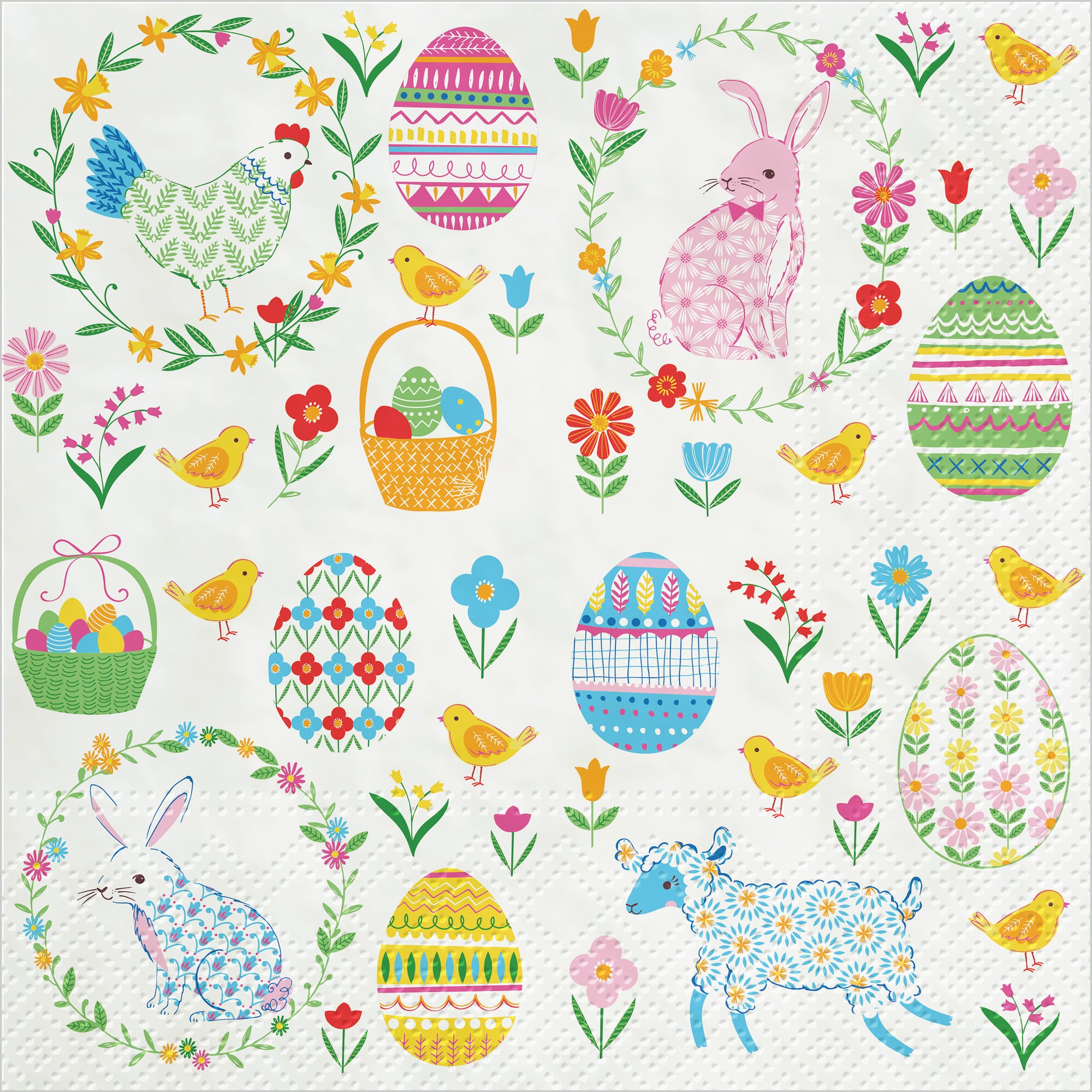 Easter Icons  Luncheon Paper Napkin | Putti Easter Celebrations
