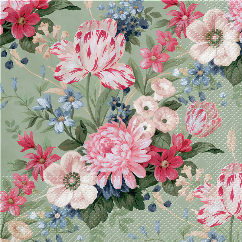 """Calm Flowers"" Paper Napkin - Lunch, AC-Abbott Collection, Putti Fine Furnishings"