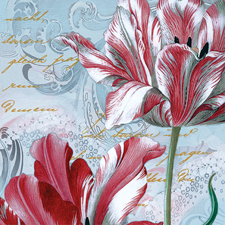 Red Tulip Luncheon Napkins