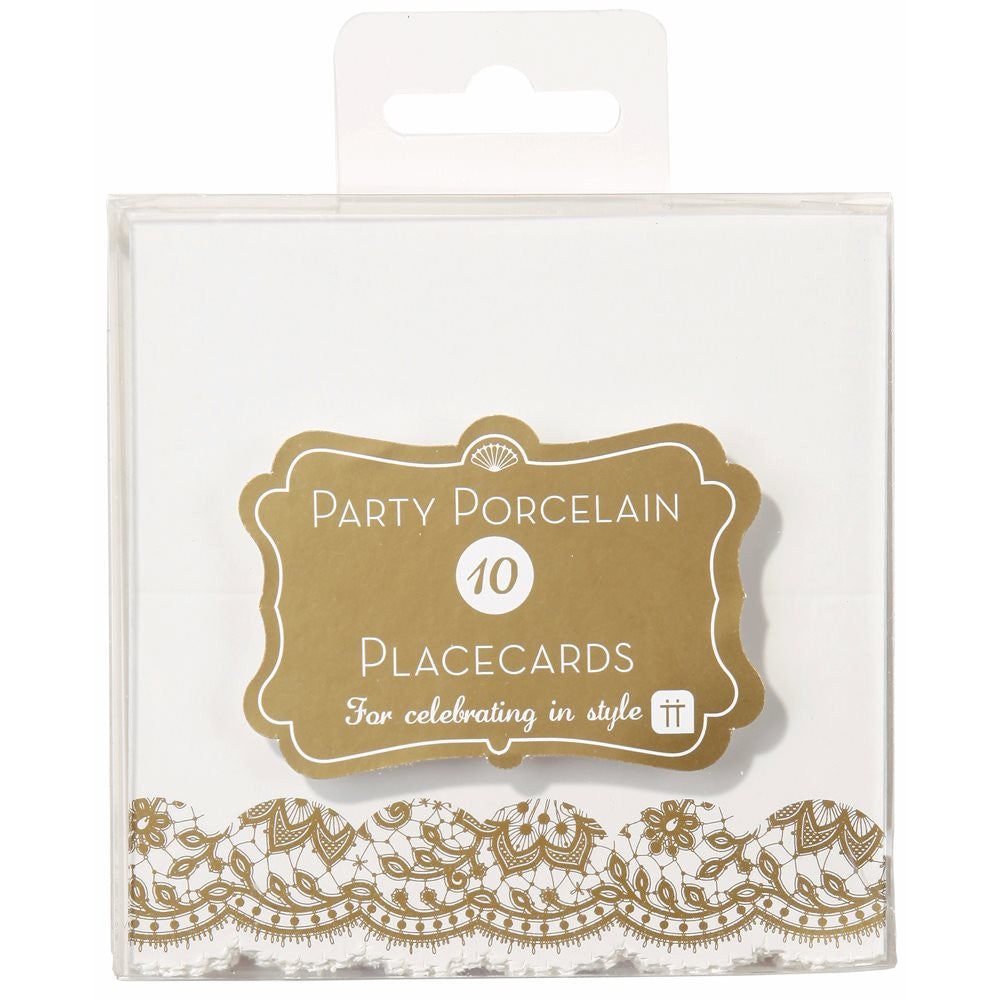 Party Porcelain Gold Place Cards -  Party Supplies - Talking Tables - Putti Fine Furnishings Toronto Canada - 2
