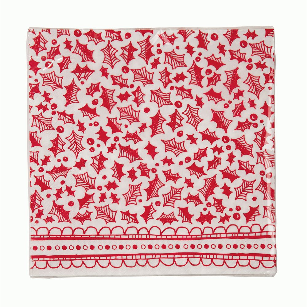 Red & White Christmas Dinner Napkin, TT-Talking Tables, Putti Fine Furnishings