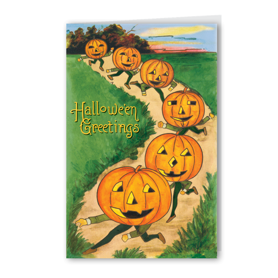 """Jack O'lantern Parade "" Greeting Card"