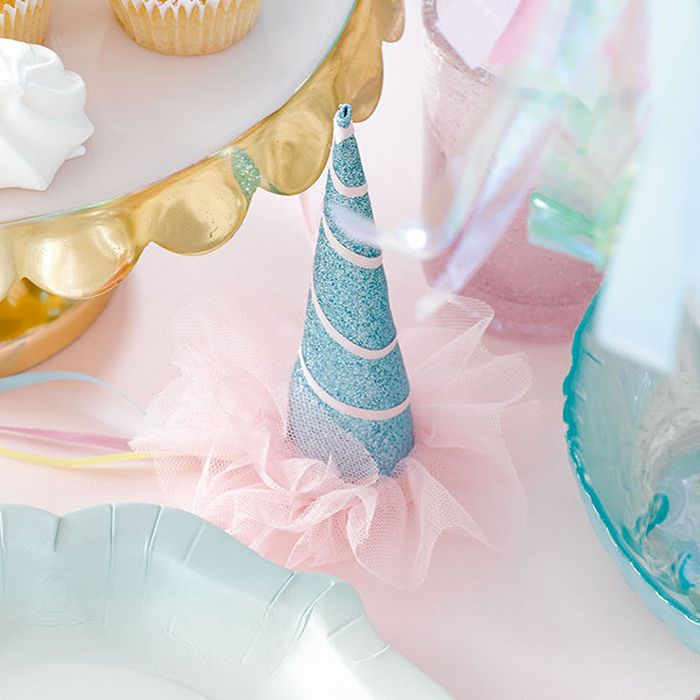 """We Heart Unicorns"" Sparkly Party Hats -  Party Decorations - Talking Tables - Putti Fine Furnishings Toronto Canada - 1"