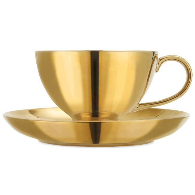 Miss Etoile Gold Oversized Tea Cup with Bird -  Party Supplies - Miss Etoile - Putti Fine Furnishings Toronto Canada - 2