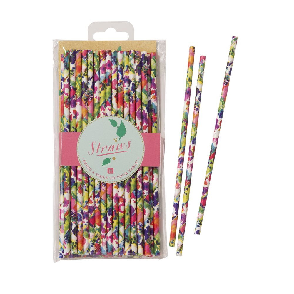 Floral Fiesta Straws, TT-Talking Tables, Putti Fine Furnishings
