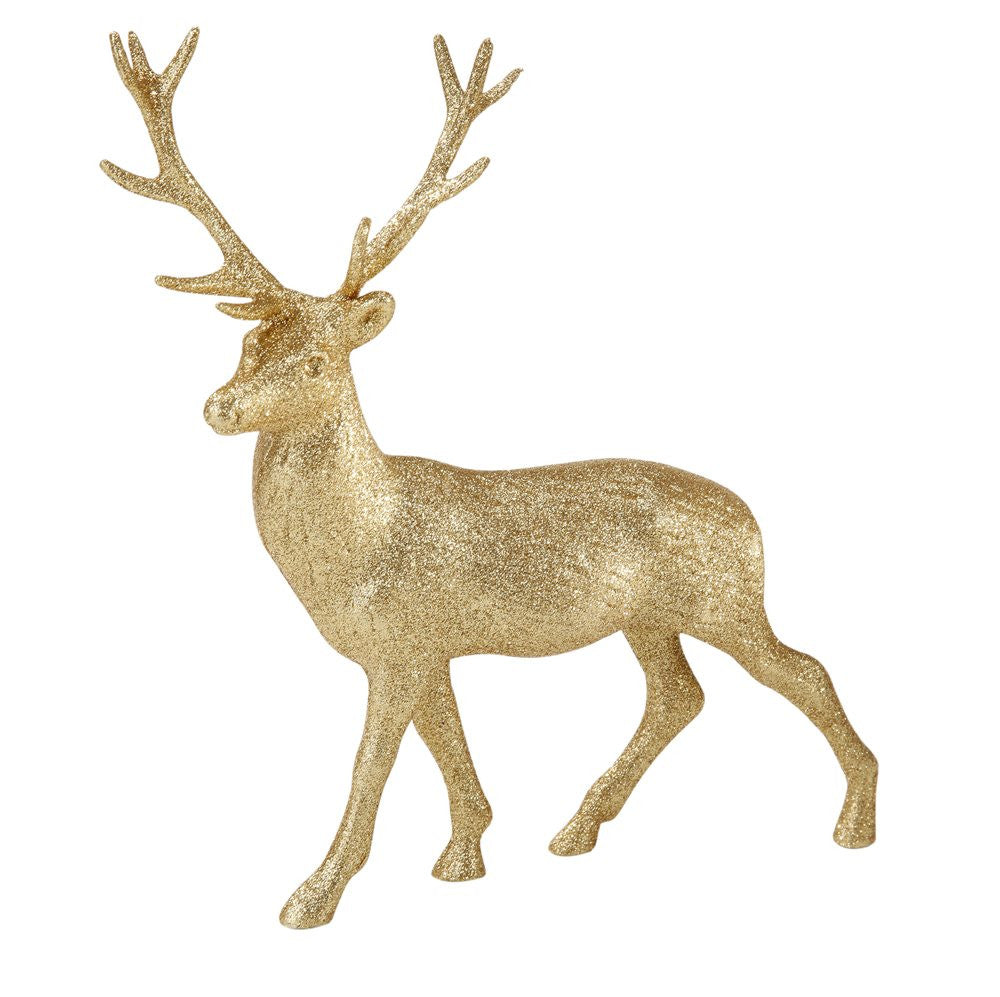 Party Porcelain Gold Glitter Reindeer-Christmas-TT-Talking Tables-Putti Fine Furnishings
